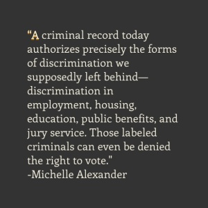 Michelle Alexander, Quote, Quotes, Criminal, The New Jim Crow, Mass Incarceration, Drugs, War on Drugs, Poverty, Black, Blog, Blogger, Injustice, Criminal Record, Justice, Police