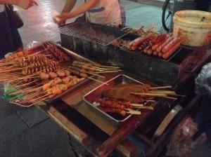 Street Food, Fish Tofu, China, Beijing, Travel, Blog, Black, Blogger