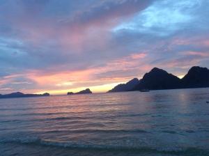 Sunset, beach, beaches, las cabanas, el nidi, philippines, travel, backpacker, blog, black, blogger